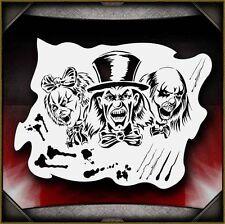 Clowns 4 Airbrush Stencil Template Paint Airsick