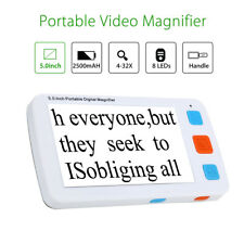 "5"" Video Digital Magnifier Electronic Reading Aid Low Vision Handheld AV out AU"