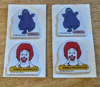 2 VTG 1985 McDonald's Grimace & Ronald McDonald 2 Puffy Sticker Promo Giveaway