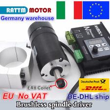 【IT】400W Brushless Spindle Motor ER8 60V &600W NVBDL+ Driver &55mm Clamp CNC Kit