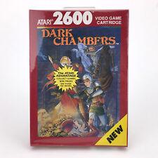 DARK CHAMBERS SEALED VIDEO GAME CARTRIDGE SCULPTURED S. 1988 NOS NIB ATARI 2600