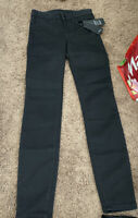 A/X Armani Exchange Super Skinny Black Jeans Mid Rise Stretch Size 24 NEW $90
