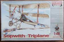 "EDUARD 1/48 SOPWITH TRIPLANE ""Flying Circus"" KIT. With etched details. *USED*"
