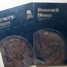 1916-45, 1946-74,  MERCURY & ROOSEVELT DIMES COIN FOLDERS, Complete P/D/S MINTS