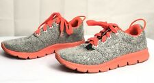 Superdry Ultra Sport Gray Neon Women Lace Up Cotton Shoes EU 40 US 9 UK 7
