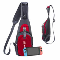 For Nintendo Switch Backpack Travel Bag Protective Carrying Case Pack USB Charge