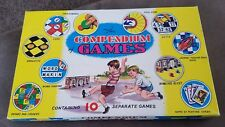 1960's Compendium of 10 Games Bowling Race Cards Words Snakes n Ladders  Ludo