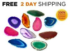 12 AGATE SLICES Crystal Stones AUTHENTIC Slice Polished Set Lot Geode LARGE