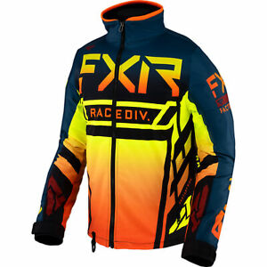 FXR Mens Snow Jacket Cold Cross Rr Jacket Slate/Inferno/Black