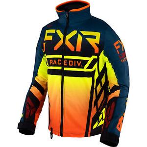 FXR Mens Snow Jacket Cold Cross Rr Jacket Slate/Inferno/Black