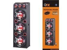 """QFX SBX-412300BT Three 12"""" PA Speaker System +Bluetooth +USB/SD/FM +Disco Light"""