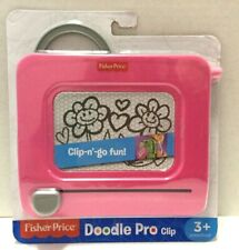 Fisher-Price Doodle Pro Clip-on Pink Magnetic Drawing Take Along Portable New 3+