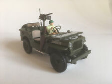 Jeep Willys 4x4 open Top mit Figur, Cararama Auto Modell 1:43 (4-90141)