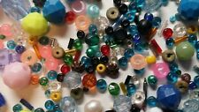 BEADS! BEADS! HUNDREDS! OVER 3 OUNCES VARIOUS BEADS SEE PHOTOS! FREE SHIPPING!
