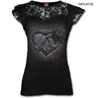 Spiral Direct Ladies Black Goth RESTING With Angels Top Lace Rose All Sizes