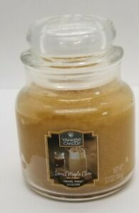 Yankee Candle - Small Jar 3.7oz -SWEET MAPLE CHAI SCENT with LID NEW TAG