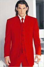 CUSTOM men wedding suit mandarin collar men Classical jacket & pants waistcoat