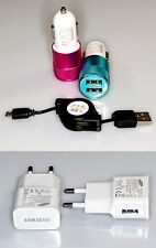 Set caricabatteria auto e casa Samsung HTC Apple Iphone LG microUSB