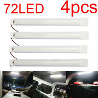 4X 72LED 12V Interior Lights Strip Bar Car Van Bus Caravan 12 VOLT ON/OFF Switch