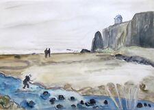 MUSSENDEN Downhill Beach Northern Ireland Watercolor Painting 10x14 Sullivan