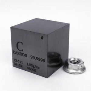 Carbon Metal Density Cube 25.4mm 99.9999% 30g for Element Collection