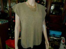 Evan Picone Women's Knit Vest Size M Lambswool Blend Sleeveless Sweater