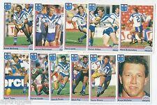 1992 Regina NSW Rugby League CANTERBURY-BANKSTOWN BULLDOGS Team Set (11 Cards)++
