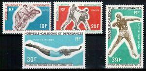 New Caledonia 1969, Mi#473-476, Sc#C377-378 + C66-C67, sports judo boxing, MNH!
