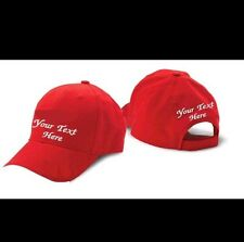 BUY 3 CAP HAT !! WHITE, BLACK, RED or KHAKY CUSTOM EMBROIDERED PERSONALIZED