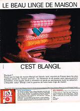 PUBLICITE  1968    BLANGIL   linge de maison