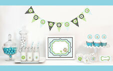 Blue Owl Boy Baby Shower Party Decorations Starter Kit