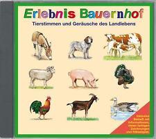 CD: ERLEBNIS BAUERNHOF Geräusche & Tierstimmen des Landlebens raten, mit Memory