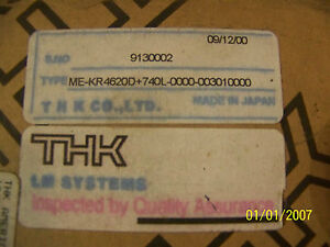 THK LM SYSTEMS GUIDE ACTUATOR      ME-KR4620D-740L