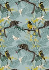 Australian Animals Leadbeater Possum and Birds Cotton Quilting Fabric 1/2 YARD