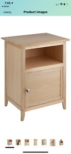 Winsome Wood End Table Night Stand with Door and Shelf Natural Finish BRAND NEW