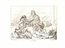 LA PIETA'- Massimo Stanzione -  Incisione Originale 1800