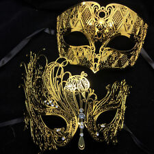 Gold Charming Metal Couple Lover Masquerade Mask Party Mask Men & Women Mask New