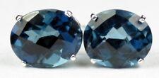 London Blue Topaz, Sterling Silver Earrings, SE102
