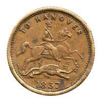 Gaming Counter - Cumberland Jack Token - Victoria - To Hanover 1837