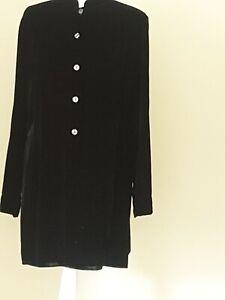 M & S black velvet look tunic – size 14