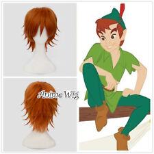 30CM Anime for Peter Pan Orange Short Heat Resistant Halloween Cosplay Wig+Cap