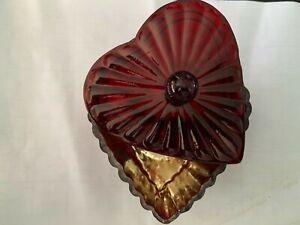 Red Love Heart Shape Trinket Jewellery Box Glass Birthday Gift New-Free P &P