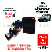 Plug-In and Play Remote Auto Start Car Starter+Bypass for 2007-17 Jeep Wrangler
