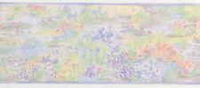 Spring Flower Field  Pastel Painted Light2 Rolls 30 Feet 30' Wallpaper Border