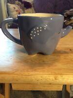 Tag Elephant Coffee Mug Sleeping Polka Dot Blue Figure Zoo Jungle Animal Tea Cup