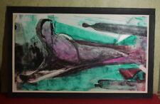 Abstrakte originale künstlerische Aquarell-Malereien der Zeit