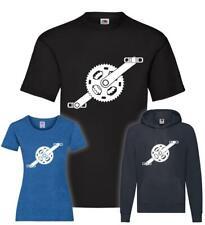 Fahrradkurbel mit Pedalle T-Shirt / Pullover / Hoodie