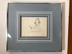 Charles Bragg Original Pencil Drawing Signed Unpublished?