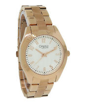 Caravelle by Bulova 44L106 Women's Boyfriend Style Rose Gold Tone Analog Watch