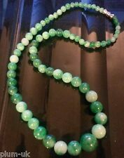 "NE Plum UK 18"" / 45cm natural stone jade necklace with screw clasp GIFT BOXED"